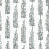 Elegant pattern with leafs drawn in thin lines Royalty Free Stock Images