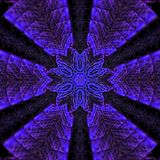 Elegant pattern in neon violet and blue colors. Star mandala. Elegant pattern in neon violet and blue color. Star mandala stock illustration