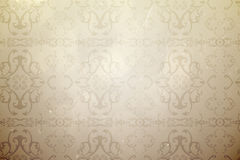 Elegant patterned wallpaper in neutral tones Stock Photo