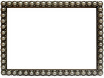Elegant pearl and silver Photo Frame. Stylish silver and Pearl Photo Frame Stock Images