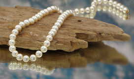 Elegant pearls with sky Stock Image