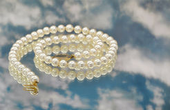Elegant pearls with sky Stock Photo