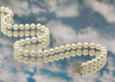 Elegant pearls with sky Stock Photos