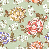 Elegant peony seamless floral pattern background Stock Image