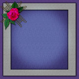 Elegant Photoframe with an flower design Stock Photos