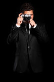 Elegant photographer Stock Images