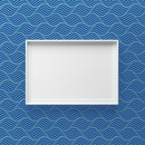 Elegant picture frame standing on wall with dark wave pattern royalty free stock photography