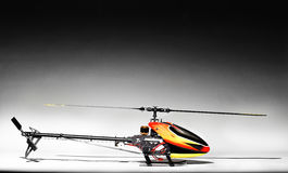 Elegant picture of remote control helicopter. Studio shot Stock Images
