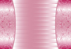 Elegant Pink Abstract Floral Wallpaper, Seamless Stock Photography