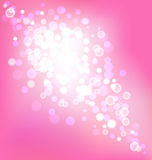 Elegant pink background with bokeh lights Stock Photo