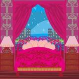 Elegant pink bedroom Royalty Free Stock Photo