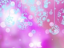 Elegant pink christmas background. Royalty Free Stock Image