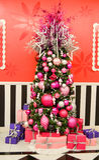 Elegant Pink Christmas Tree Stock Images