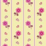 Spring Hope Pink Florals and Stripes vector illustration