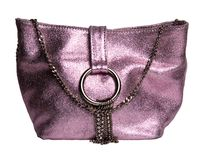 Elegant pink handbag Stock Images