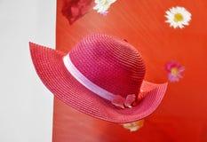 Elegant pink hat Stock Image