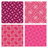 Elegant pink pattern set Royalty Free Stock Photography