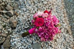 Elegant pink wedding bouquet Royalty Free Stock Photo