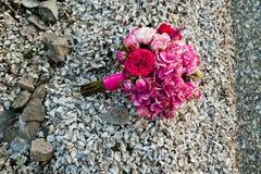 Elegant pink wedding bouquet Stock Images