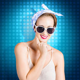 Elegant pinup woman wearing classic retro fashion Royalty Free Stock Photo