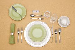 Elegant Place Setting. With fine china Stock Images
