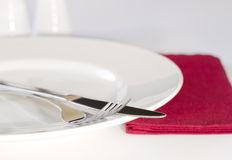 Elegant place setting Royalty Free Stock Images