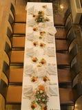 elegant placesetting tabell Royaltyfri Fotografi