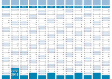 Elegant planner spanish. 2015 planning in spanish. 2015 calendar Royalty Free Stock Images