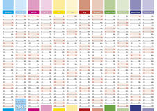 Elegant planner 2015 Royalty Free Stock Photo