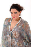Elegant plus size woman Royalty Free Stock Image