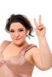 Elegant plus size woman doing Royalty Free Stock Photos