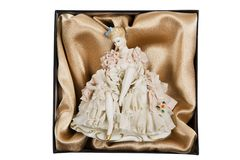 Elegant porcelain doll Royalty Free Stock Photos