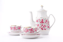 Elegant porcelain tea set Royalty Free Stock Photography