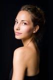 Elegant portrait of beautiful young brunette. Stock Photos