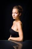 Elegant portrait of beautiful young brunette. Stock Images