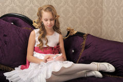 Elegant portrait of gorgeous young girl Royalty Free Stock Images