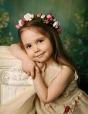 Elegant portrait of a sweet young girl Royalty Free Stock Photography