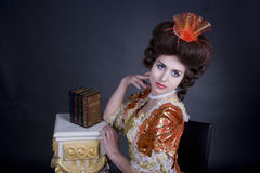 elegant portretkvinna Arkivbild
