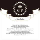 Elegant postcard for VIP invitations and congratulations. In Victorian style, with a round ornament. Brown with white Royalty Free Stock Photo