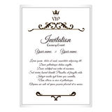 Elegant postcard for VIP invitations. To attach to the envelope. It is executed in the Victorian style with a leaf ornament. Brown Royalty Free Stock Photo