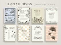 Elegant poster template design Stock Photo