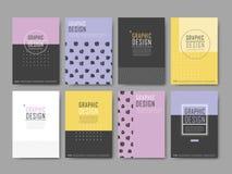 Elegant poster template design set Stock Photos