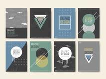 Elegant poster template design set Royalty Free Stock Images