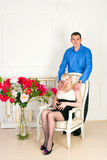 Elegant pregnant couple Royalty Free Stock Photo