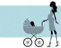 Elegant pregnant mom Royalty Free Stock Image
