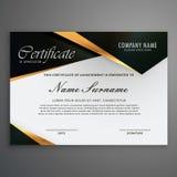 Elegrant premium luxury style certificate of qualification. Elegant premium luxury style certificate of qualification Stock Photos