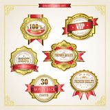 Elegant premium quality golden labels collection Stock Photography