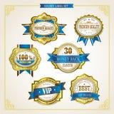 Elegant premium quality golden labels collection Stock Image