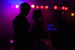 Elegant pretty young bride and groom. First dance Stock Photography