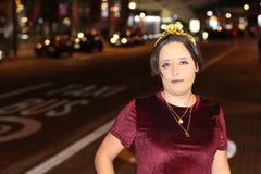Elegant and proud transgender woman outdoors stock photo